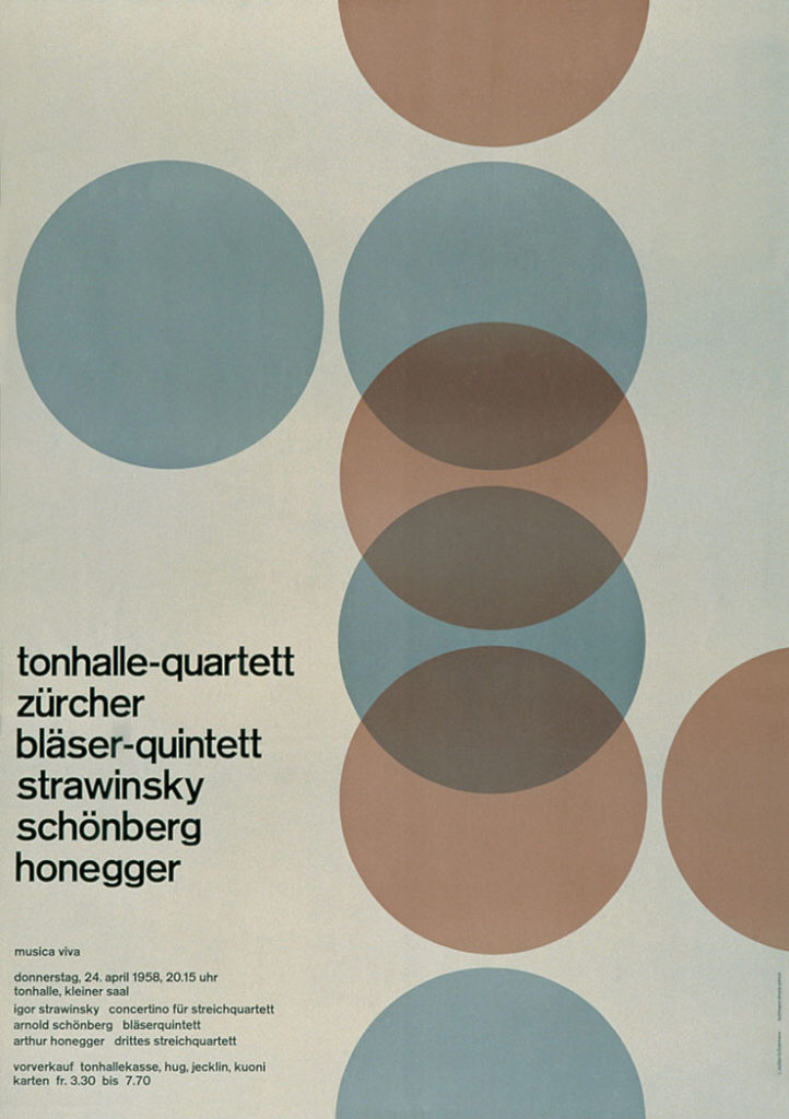 Affiche de « l'indémodable » Josef Müller-Brockmann (1914-1996)